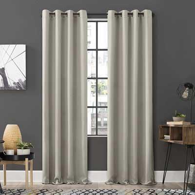 1. Sun Zero Soho Energy Efficient 2-Pack Blackout Grommet Curtain, Pearl