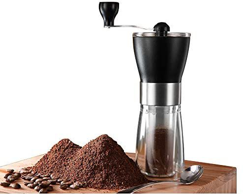 10. T-mark Portable Stainless Steel Manual Coffee Grinder for Traveling Purposes