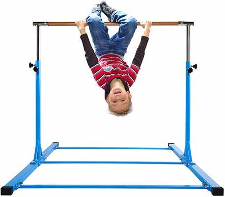 #2. Dai&F Horizontal Gymnastics Bar, 300 lbs Weight Capacity