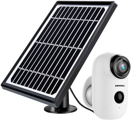 10. ZUMIMALL 2-Way Audio IP65 Waterproof Night Vision Solar-Powered 1080P Wi-Fi Camera