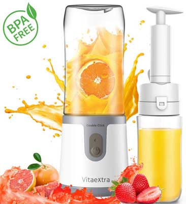 3. Vitaextra Portable Personal Blender, BPA Free for Home and Outdoor Use