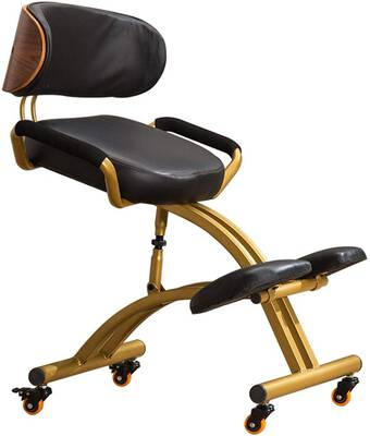 #2. AJ ZJ Adjustable Ergonomic Kneeling Chairs Helps Prevent Coccyx Pain for Home & Office