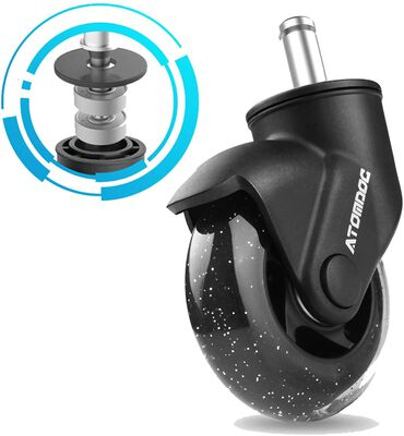 5. Atomdoc 3 inch Lightweight Revolutionary Swivel Office Chair Wheels Replacement