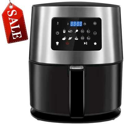 #5. GOODNEW 7.5 Quart 10 Preset 1700W LED Touchscreen Hot Air Fryer