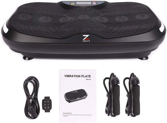 2. Z ZELUS Vibration Exercise Platform with 2 Resistance Bands