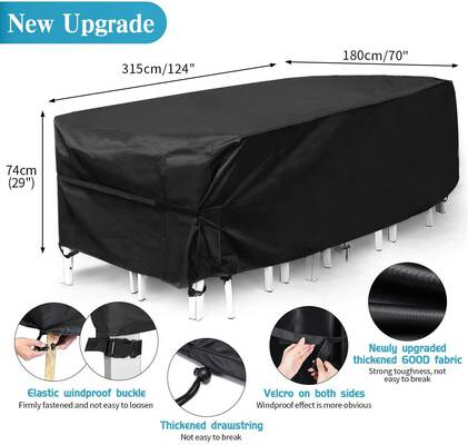 6. King Do Way 600D 12 – 14 Seat Tear-Resistant UV Extra-Large Waterproof Patio Furniture Cover