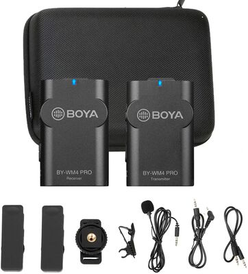 10. BOYA K1 2.4G Smartphone Lapel Microphone Wireless Lavalier for DSLR Canon Camera