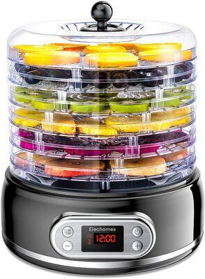 5. ELECHOMES BPA-Free Overheat Protection 6 Tray Mesh Screen Food Dehydrator