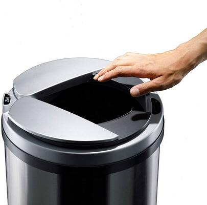 #2. ZitA Detailed Usability Automatic Opening & Closing 13 Gallon Stainless Steel Trash Can