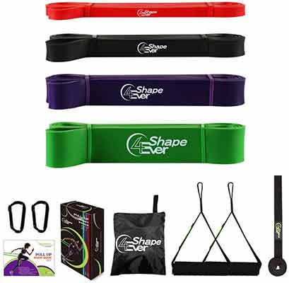 #6. 4EverShape Resistance Bands Heavy Duty Pull Up Assistance Bands for Workout Body Stretch