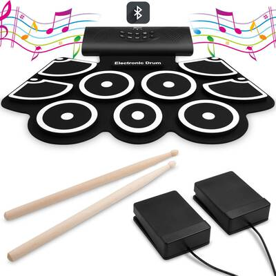 8. VEEtop Electronic Drum Set with Built-in Speakers