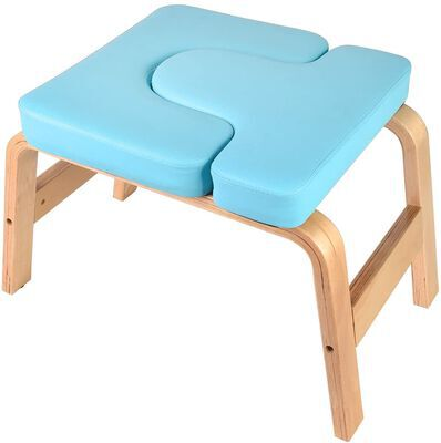5. Puliomis Blue Lightweight Yoga Headstand Bench for Improved Blood Circulation