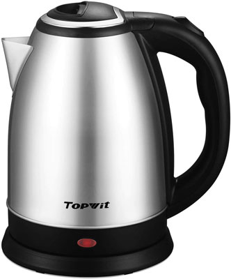 #10. TOPWIT 2L Stainless Steel Cordless Auto-Shutoff Upgraded Electric Kettle