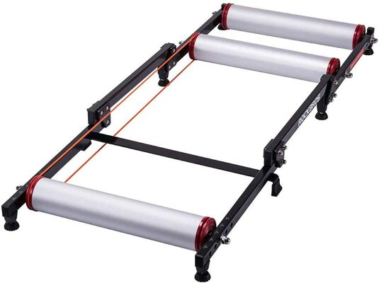 7. Rockbros Black Indoor Foldable Bike Trainer Stand with Front Adjustment Holes