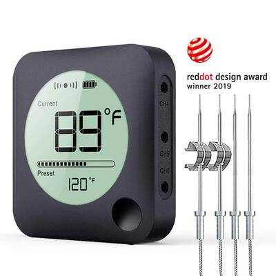 5. BFOUR Bluetooth Grill Thermometer Digital BBQ Meat Thermometer for Grilling Smoker