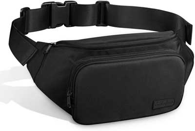 #4. AUDIOFINA Large Capacity with Adjustable Strap Pack Waist Bum Bag for Men & Women