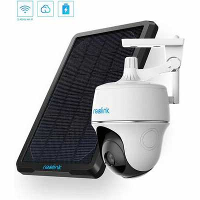 1. REOLINK 2-Way Audio Wireless Pan Tilt Solar Powered Wi-Fi Security Camera System
