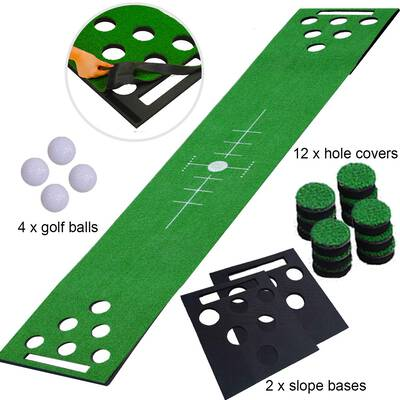 #10. 2-FNS Beer Pong Game Set, Golf Putting Green Game Set