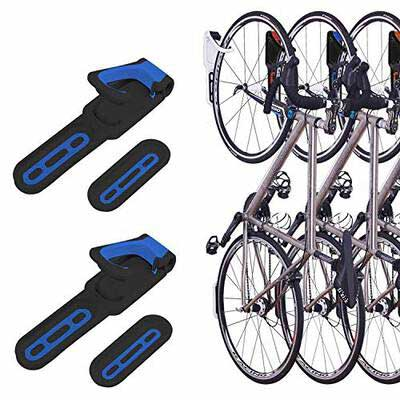 #10. Saxton Two Pack Foldable Wall Mounted Vertical Bike Rack