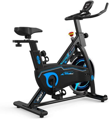 7. leikefitness Indoor Cycling Bike- Ultra-Quiet with an LCD Display