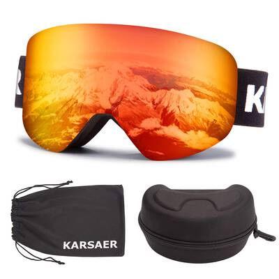 #5. Karsaer Scratch Resistant UV Protection Dual Lens Snow Ski Snowboard Goggles for Women & Men