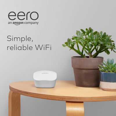 9. EERO Fast Standalone Cross-Compatible Alexa 1500 Sq. Ft Whole Home Mesh Wi-Fi System