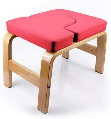 9. Bigtree Environmentally Friendly Wood and PU Pad Inversion Yoga Headstand Bench