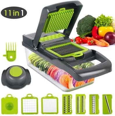 5 Blades Manual Kitchen Food Vegetable Cutter Slicer Chopper Peeler Dicer Garlic