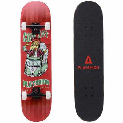 9. Palyshion 31Inch Easy to Adjust Cool Life Trick Skateboard Complete for Beginners & Kids