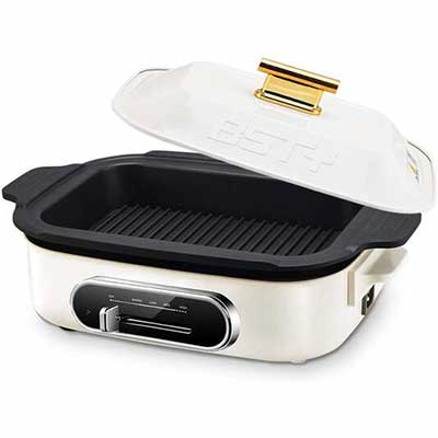3. BESTY Home 1200W 6-in-1 Multi-Function Non-Stick Electric Skillet w/Removable Pan