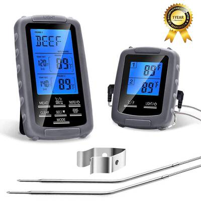 9. PETRIP 230 Ft. Range BBQ Kitchen Cooking Food Digital Wireless Meat Thermometer