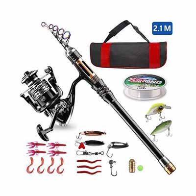 4. BlueFire Fishing Rod Kit with Spinning Reel