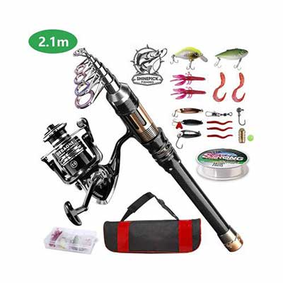 3. ShinePick Fishing Rod Combo for Saltwater and Freshwater Fishing