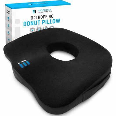 2. ERGONOMIC INNOVATIONS Donut Pillow - Black