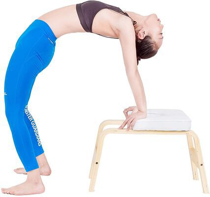 8. EveryMile White High-Density Yoga Headstand Bench for Good Body Shape and Sleep