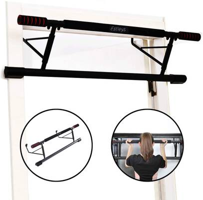 #2. Estleys Foldable Pull Up Bar Doorway Trainer