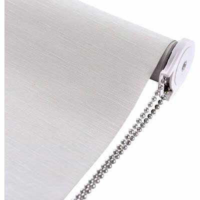 1. ALLBRIGHT Beige 34inch Striped Jacquard 100% UV Protection Cordless Blackout Window Roller Blinds