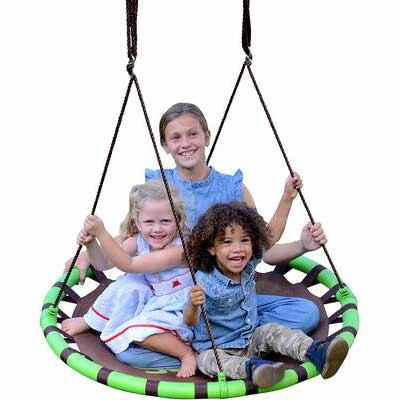 5. Swurfer 40'' 500lbs Tool-Free Assembly Quick Drying Fabric Saucer Tree Swing
