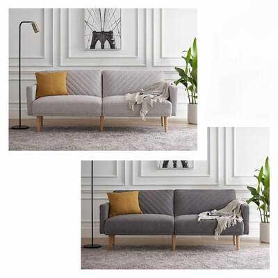 #3. Mopio Chloe Convertible Futon Couch Bed