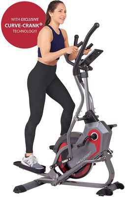 7. Body Power 2 In 1 Cross Trainer Machine with Curve-Crank Technology and Zero Impact