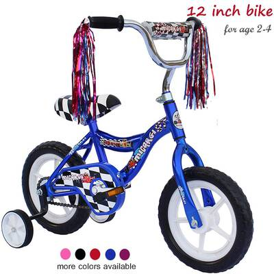 #10. ChromeWheels Kid's Bike with Training Wheels for 2-6 Years Old