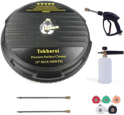 2. TOKHAROI 4000 PSI 5 Nozzle Tips Full Set Universal 16Inch Surface Cleaner for Pressure Washer