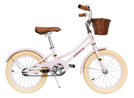 #4. ACEGER Kid's 16-inch Bike for Girls with Basket and Kickstand