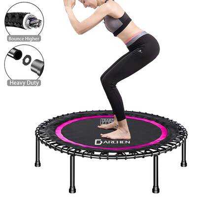 """#2. DARCHEN 450lbs Small Mini Trampoline Rebounder for Adult Indoor Workout40"""" Gym Cushioned"""