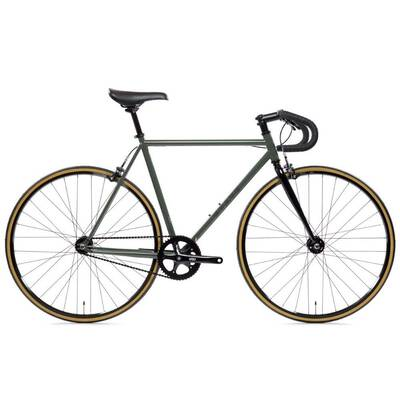 #7. State Bicycle Fixed Gear Drop Double Butted Grade Chromoly Bicycle 4130 Steel Road Bike