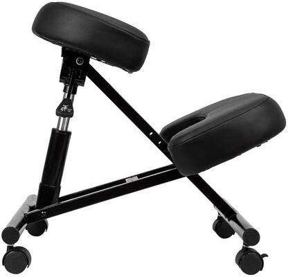 #3. NewMultis MF-MC185 Hydraulic Adjustable Correct Posture Ergonomic Kneeling Chair (Black)