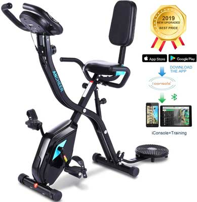 #6. Zafuar 3-in-1 Folding Recumbent Indoor Stationary Cycling Bike for Home Workout