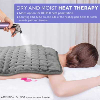 #10. Ramheart 3 Heat Setting with Auto-Shutoff Heating Pad for Back Neck Pain & Cramps Relief