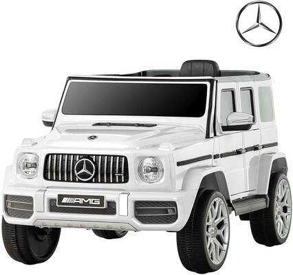 #2. Uenjoy 12V Mercedes-Benz G63 Motorized vehicles for Girls & Boys w/ Remote Control (White)