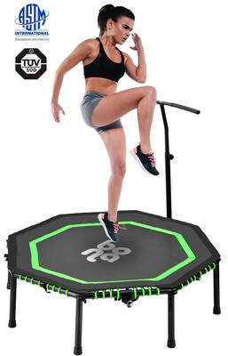 """#6. Newbona 48"""" Foldable & Silent Indoor Rebounders Mini Trampoline Load 265lbs for Adults"""